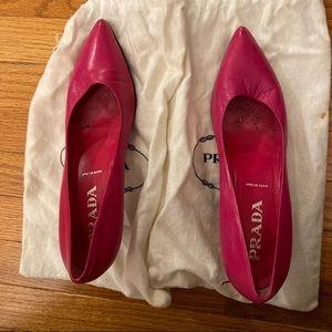 Prada Hot Pink Pumps w/ Bags